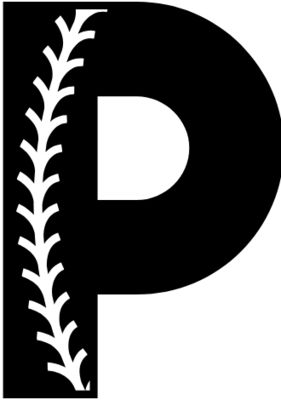 Baseball Alphabet P right
