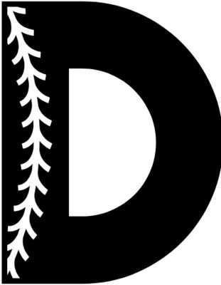 Baseball Alphabet D left