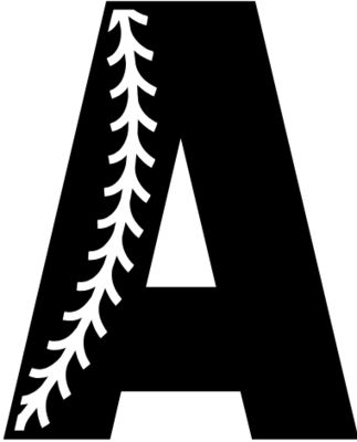 Baseball Alphabet A left