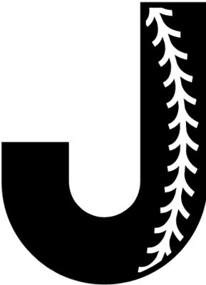Baseball Alphabet J left
