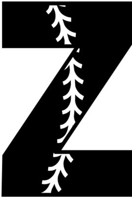 Baseball Alphabet Z left