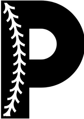 Baseball Alphabet P left