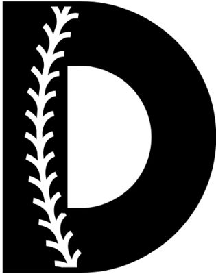 Baseball Alphabet D right