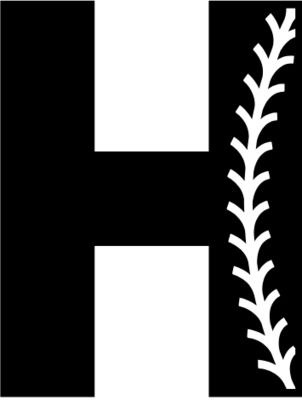 Baseball Alphabet H right