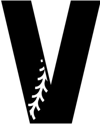 Baseball Alphabet V left