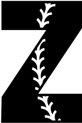 Baseball Alphabet Z right