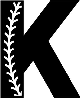 Baseball Alphabet K right