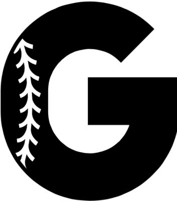 Baseball Alphabet G left