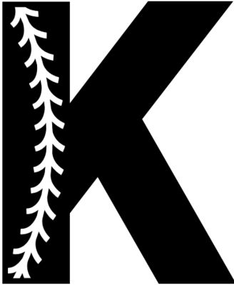 Baseball Alphabet K left