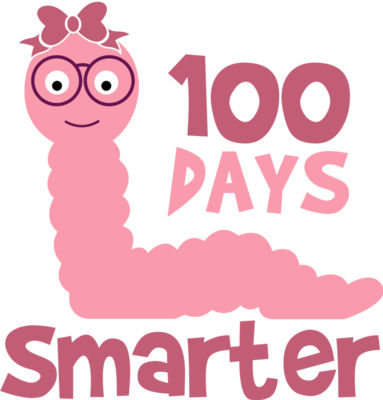 100 Days Smarter Svg Girl