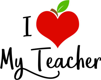 Apple Heart I Love My Teacher