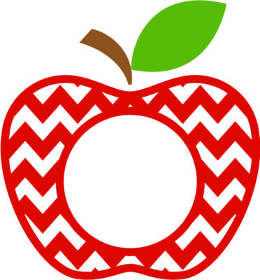 Chevron apple monogram 01