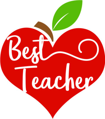 Apple Heart Best Teacher