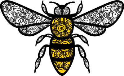 Bee Zentangle