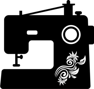 sewing machine floral